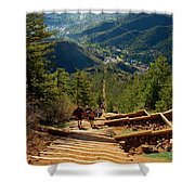 Steep Manitou Incline And Barr Trail Shower Curtain