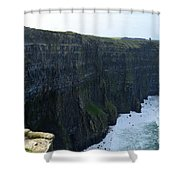 Steep Sheer Sea Cliff's Known As The Cliff's Of Moher Shower Curtain