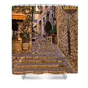 Steep Street In St Paul De Vence Shower Curtain