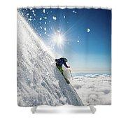 Steep Summer Volcano Skiing Shower Curtain