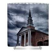 Steeple In The Sky Shower Curtain