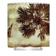 Steeple Sepia Shower Curtain