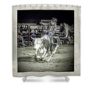 Steer Buck Out _c Shower Curtain
