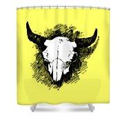 Steer Skull Tee Shower Curtain