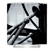 Steering Column Of Direction Shower Curtain