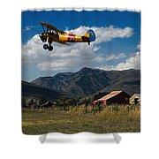 Steerman Bi-plane Shower Curtain