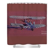 Steerman Biplane Shower Curtain