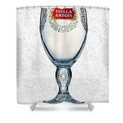 Stella Artois Chalice Painting Collectable Shower Curtain