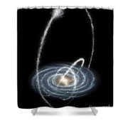 Stellar Streams Over The Milky Way Shower Curtain