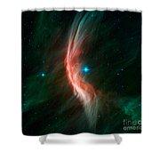 Stellar Winds Flowing Shower Curtain