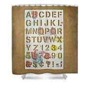 Stencil Alphabet Fun Shower Curtain