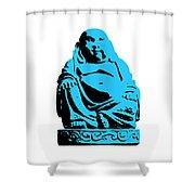 Stencil Buddha Shower Curtain