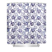 Stencilled Floral Shower Curtain by Jocelyn Friis