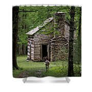 Step Back In Time Shower Curtain by Andrea Silies