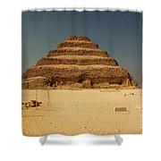 Step Pyramid 2 Shower Curtain