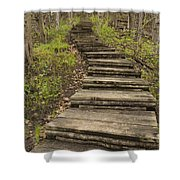 Step Trail In Woods 17 A Shower Curtain
