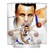 Steph Curry 2017 Profile Shower Curtain