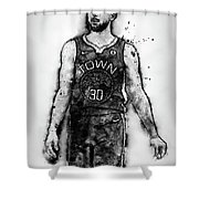 Steph Curry, Golden State Warriors - 18 Shower Curtain