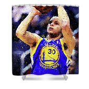 Steph Curry, Golden State Warriors - 19 Shower Curtain