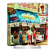 Stephanies Icecream Stand Shower Curtain