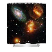 Stephan's Quintet Shower Curtain