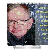 Stephen Hawking Poster Shower Curtain
