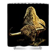 Steppe Bison Shower Curtain