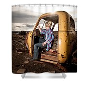Stepping Away Shower Curtain