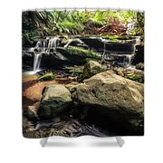 Stepping Cascade - Leura, Blue Mountains, Australia. Shower Curtain