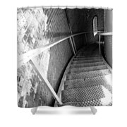 Stepping Down Shower Curtain