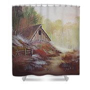 Stepping Out Of The Woods Shower Curtain