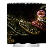 Stepping Through Time Shower Curtain