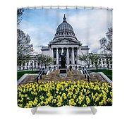 Steps In Bloom Shower Curtain