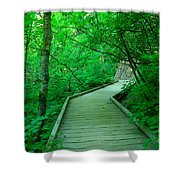 Steps Into Paradise Shower Curtain