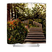 Steps Of Monte Rio Shower Curtain