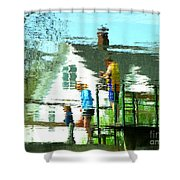 Steps Of Generations Shower Curtain