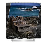 Steps To The Ocean2 Shower Curtain