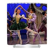 Stepsister Ballerinas En Pointe And Guests Ballroom Dancing In B Shower Curtain