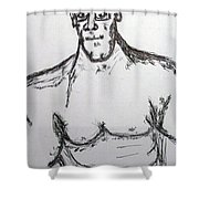 Steriod Dude Shower Curtain