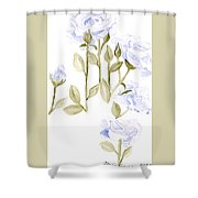 Sterling Roses Shower Curtain