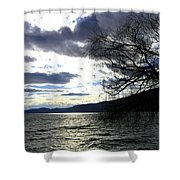 Sterling Silver Sunset Shower Curtain