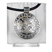 Sterling Silver Viking Celtic Cross Shower Curtain