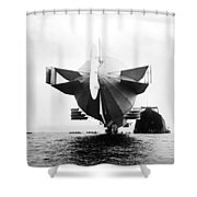 Stern Of Zeppelin Airship - 1908 Shower Curtain