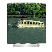 Stern Wheeler On The Columbia River  Shower Curtain