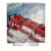 Sternwheeler Splash Shower Curtain