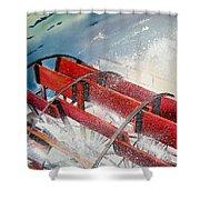 Sternwheeler Splash Shower Curtain by Karen Stark