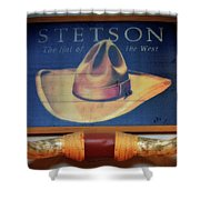 Stetson The Hat Of The West Signage Shower Curtain
