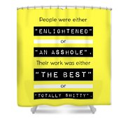 Steve Jobs Quote Shower Curtain
