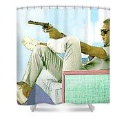 Steve Mcqueen, Colt Revolver, Palm Springs, Ca Shower Curtain