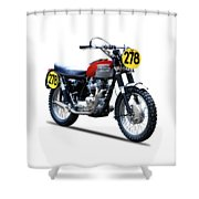 Steve Mcqueen Isdt 1964 Shower Curtain